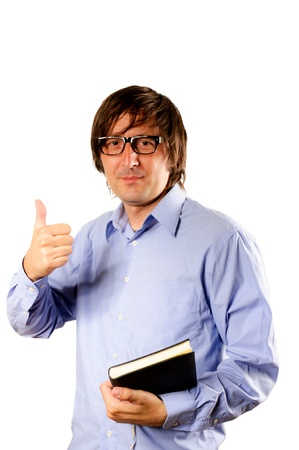 Business man hand with thumb up isolated Stock Photo - 14425876