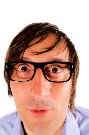 Funny nerd with the eyeglass Stock Photo - 14477376