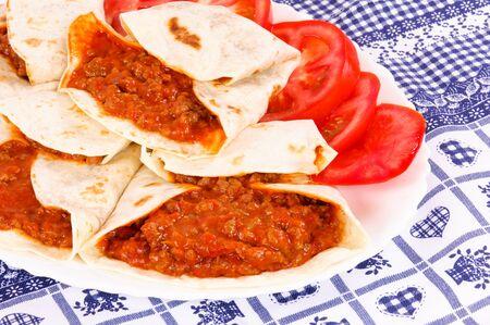 고기의: 접시에 고기 식사 스톡 사진