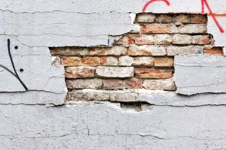 Broken wall texture photo