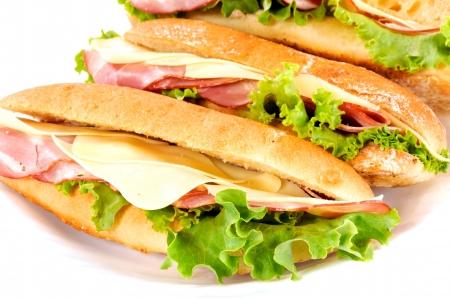 Tasty sandwichs isolated on white Stock Photo - 14618661