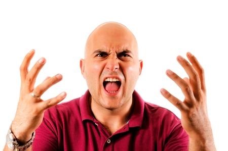 Man shouting isolated on white Stock Photo - 14658040