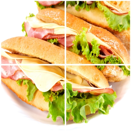 Fresh sandwich collage photo