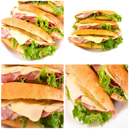 Yummy sandwich collage Stock Photo - 14726337