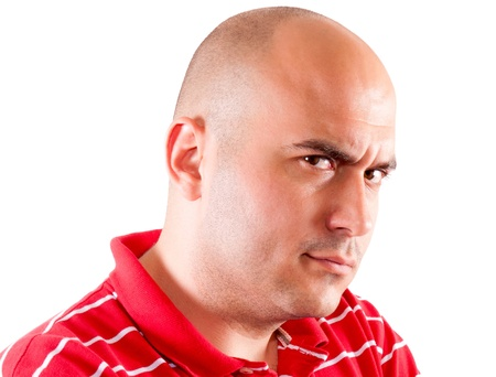 Bald man is very angry Stock Photo - 14726579