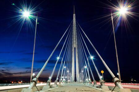 Belgrade bridge at the night photo
