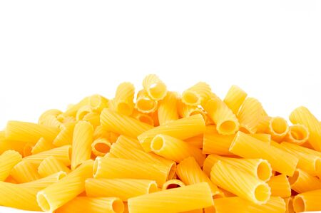 short pasta: Macaroni isolated on white
