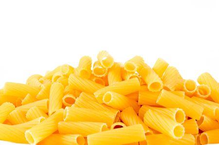 Macaroni isolated on white photo