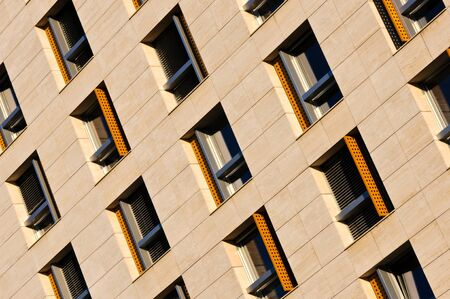 Many windows in the line Stock Photo - 15181893