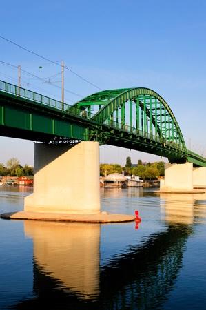 Old tram bridge in Belgrade Stock Photo - 15201423
