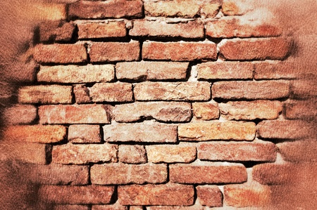 Old bricks as the background photo