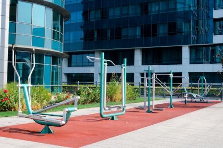 Public gym in Belgrade photo