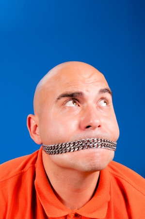 Bald guy with the chain Stock Photo - 15027789