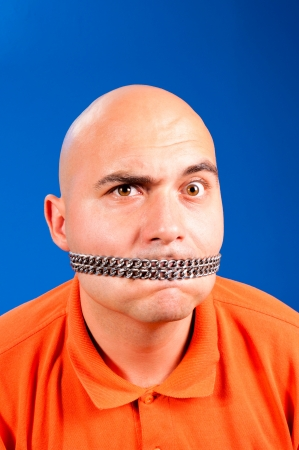 Bald guy in the chain Stock Photo - 15027792