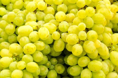 Bunch of the white grapes photo