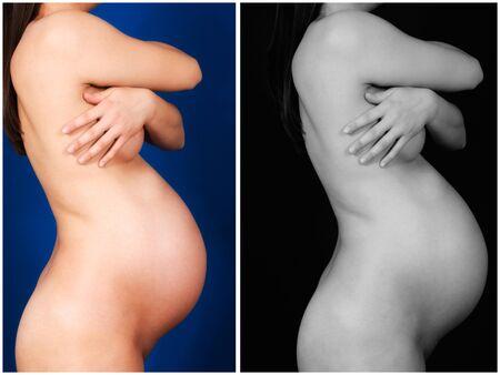 Female pregnancy in collage Stock Photo - 15499954