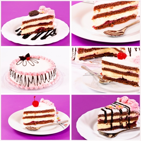 Collage of the tast cake photo