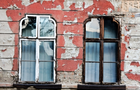Pair of the old windows photo