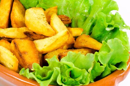 titbits: Selective focus on the potato