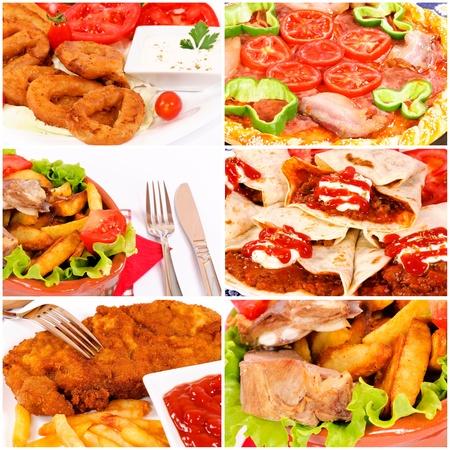 Plenty of food collage photo