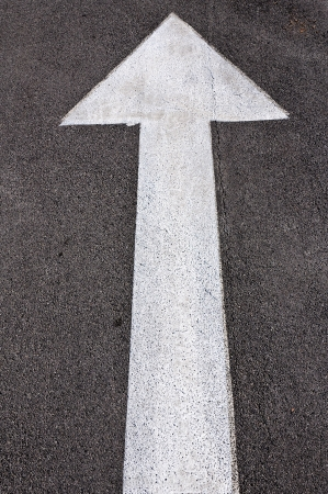 Sign on the road for stright forward photo
