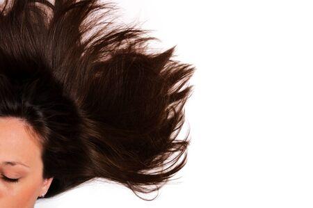 Female hair isolated on white Stock Photo - 16062327