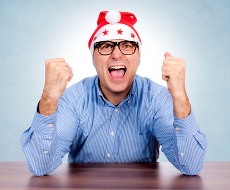 Santa with glasses is a very angry Stock Photo - 16143212