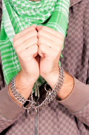 The arrested man with the chains Stock Photo - 16191402