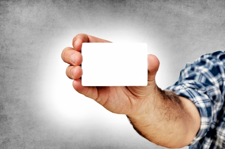 Blank calling card in the hand Stock Photo - 16241405