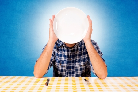 White plate over the head