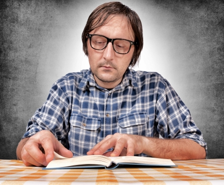 Man preparing for exams  Stock Photo - 16252897