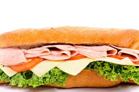 Tasty sandwich isolated on white background photo