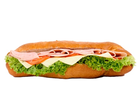 Sandwich isolated on white background photo