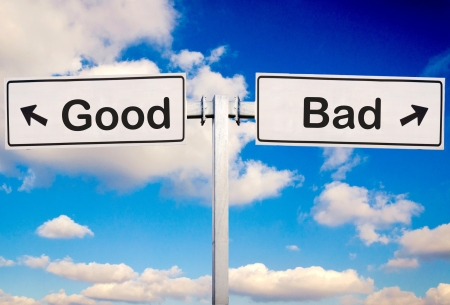scruple: Good or bad sign over the sky
