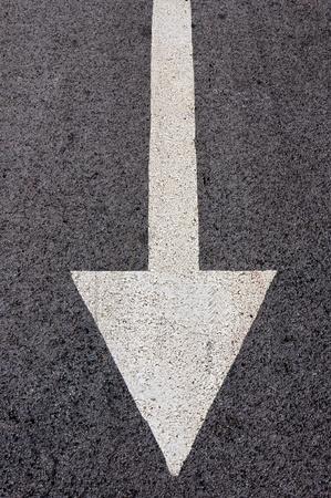 Back arrow sign on the street Stock Photo - 16784055