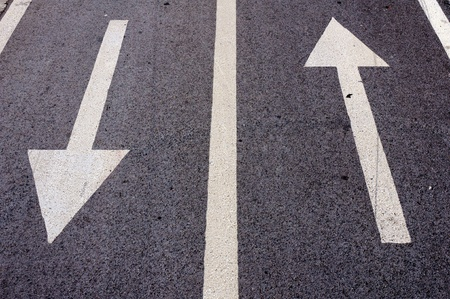 Back and forward arrows sign photo