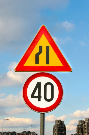 Sign for the speed limit photo