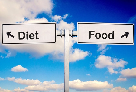 scruple: Food or diet sign over the sky