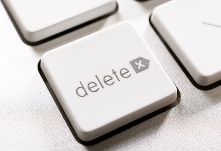 Selective focus on the delete button Stock Photo - 16844408