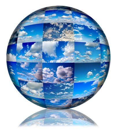 Ball of the bunch of clouds photos Stock Photo - 16844442