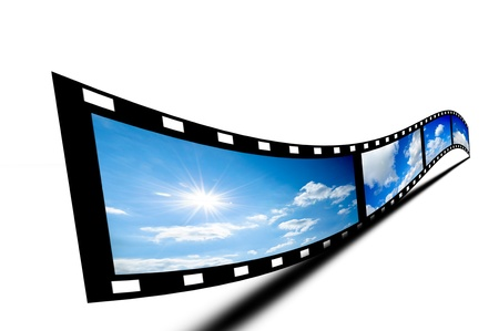 film stripe isolated on white photo