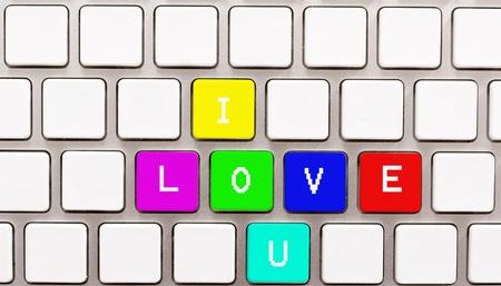 i love u: I love u on the keyboard