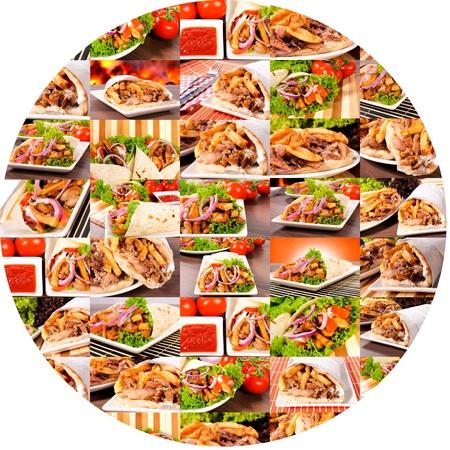 sandwiche: Mazzo di giroscopi in cerchio Archivio Fotografico