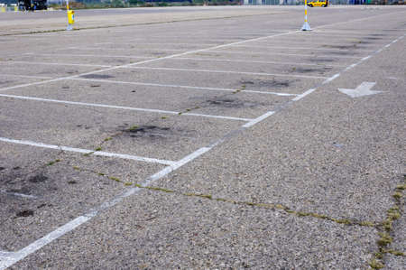 A lot of empty parking space photo