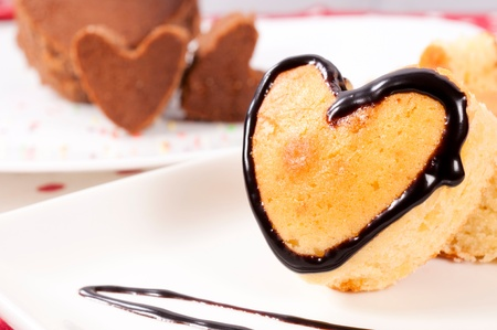 Selective focus on the heart cake Stock Photo - 17294916
