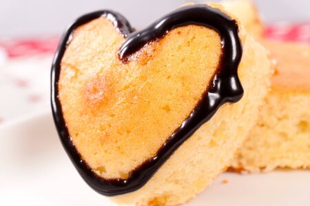 Close up to sweet heart cake Stock Photo - 17294974