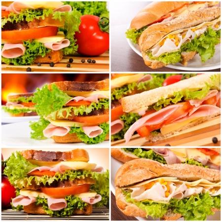 sandwich: Culo sabroso pan tostado y bocadillos