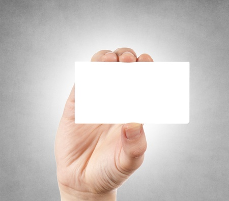 Blank calling card in the hand Stock Photo - 17390794