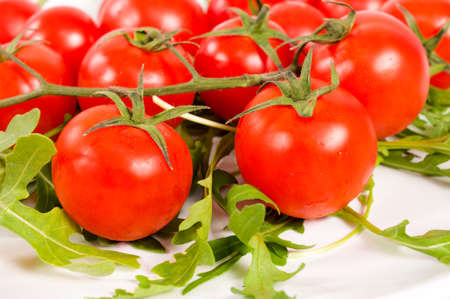 Selective focus on the front cherry tomato Stock Photo - 17609452