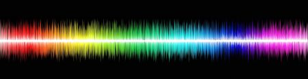 Rainbow sound wawe on black background Stock Photo - 17905543